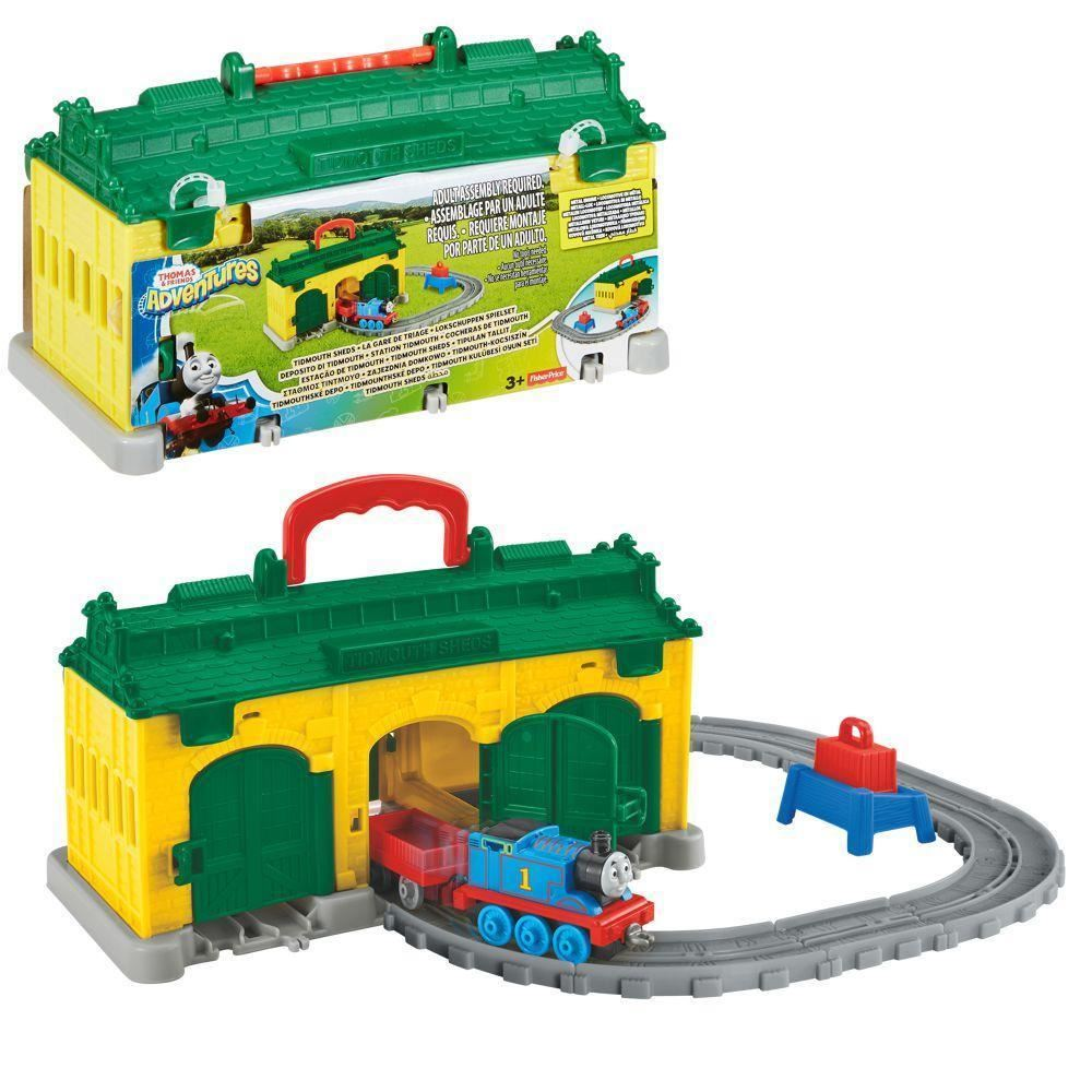 Fisher Price Thomas and Friends Adventures Tidmouth Sheds with Turntable Toy Set