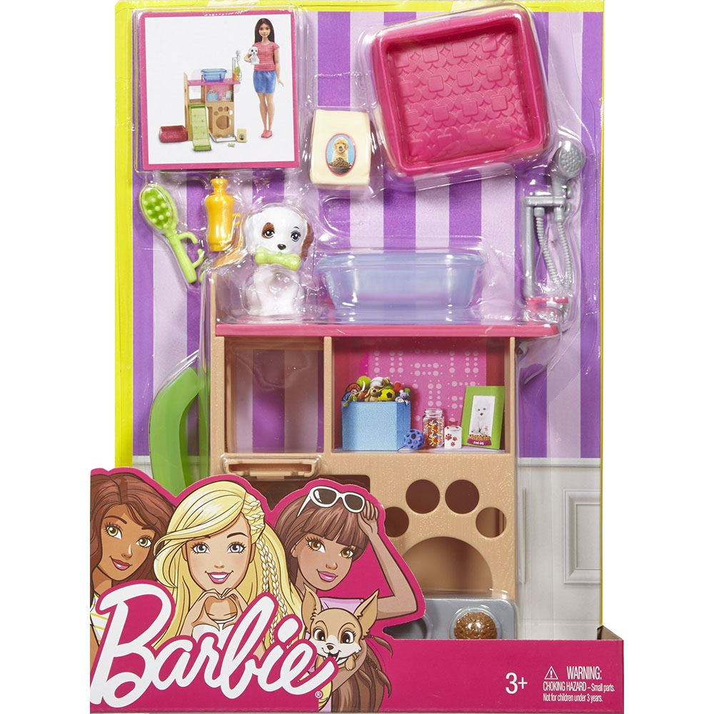Barbie Dining Room Set: Barbie Date Night Dining Set, Barbie Movie Night Set, Barbie Pet Room Set