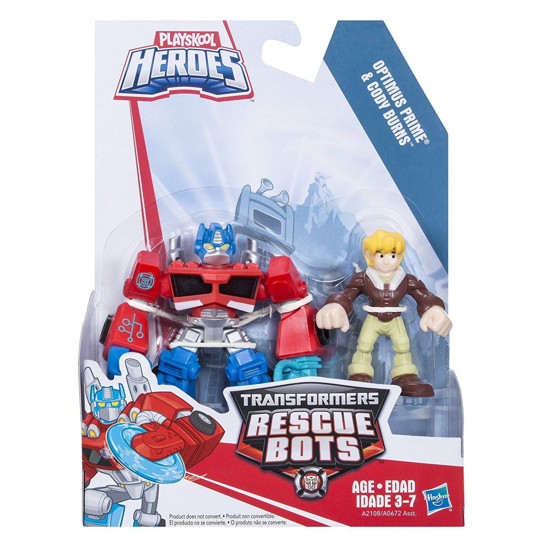 Playskool Heroes Transformateurs Rescue Bots Bleu Optimus Prime