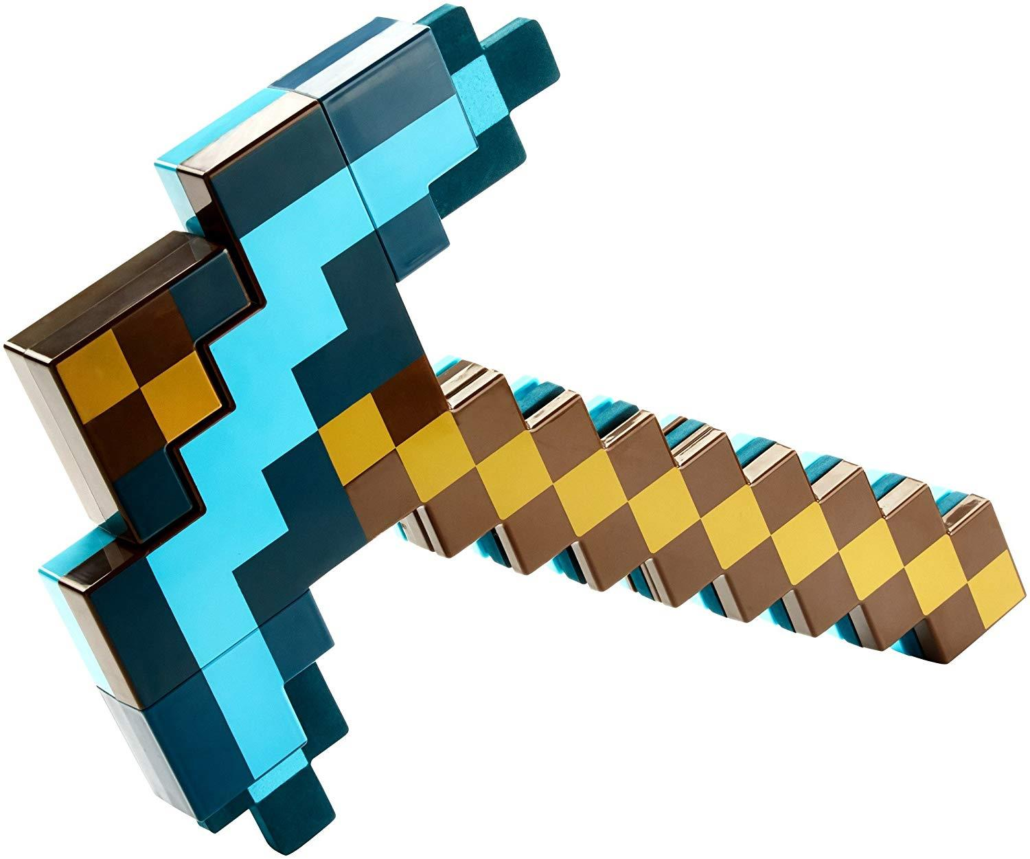 Details about Minecraft Transforming Sword Pickaxe Blue/Green