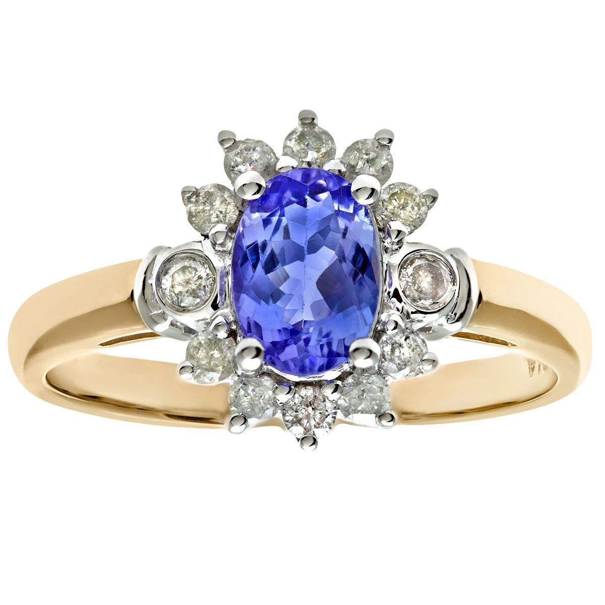 diamond gold realreal products ring enlarged rings cocktail jewelry fine white and real tanzanite the