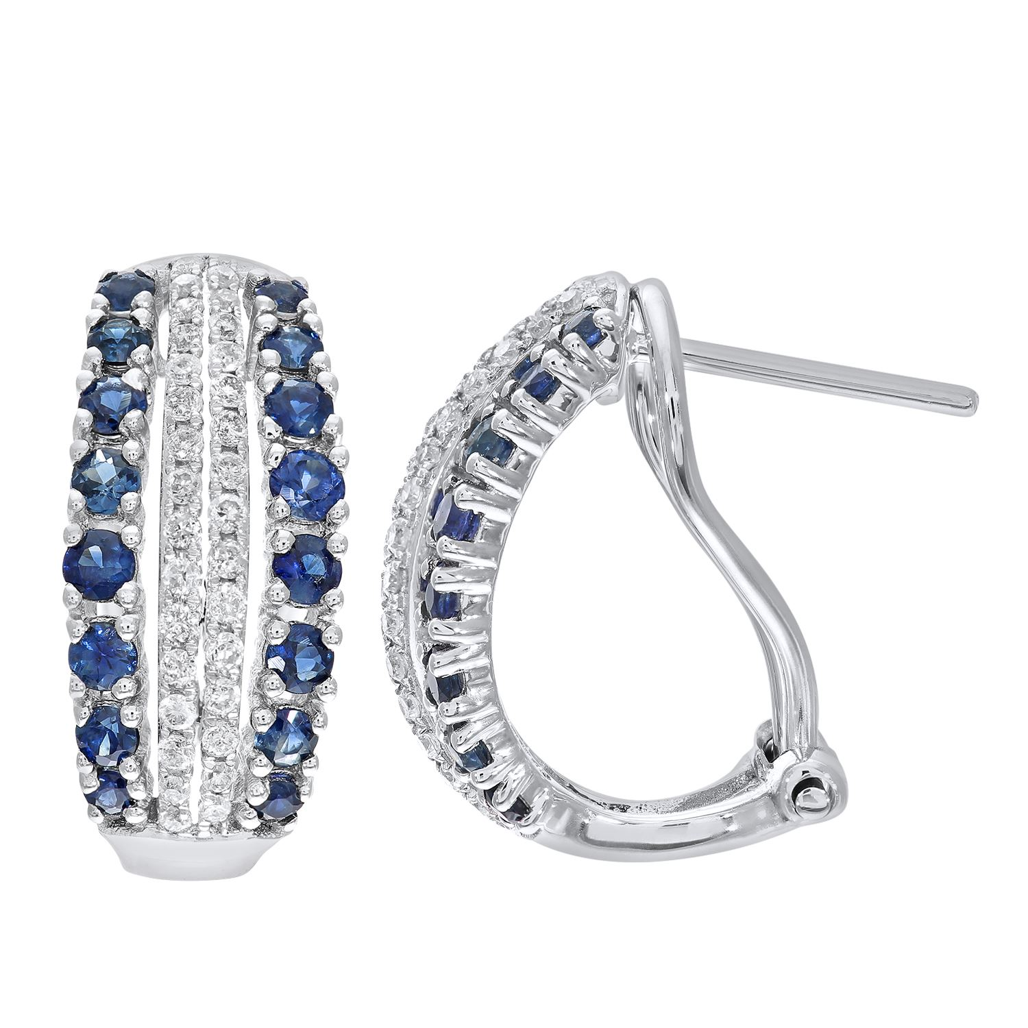 overview band real and ring sapphire french cut diamond blue eternity triple