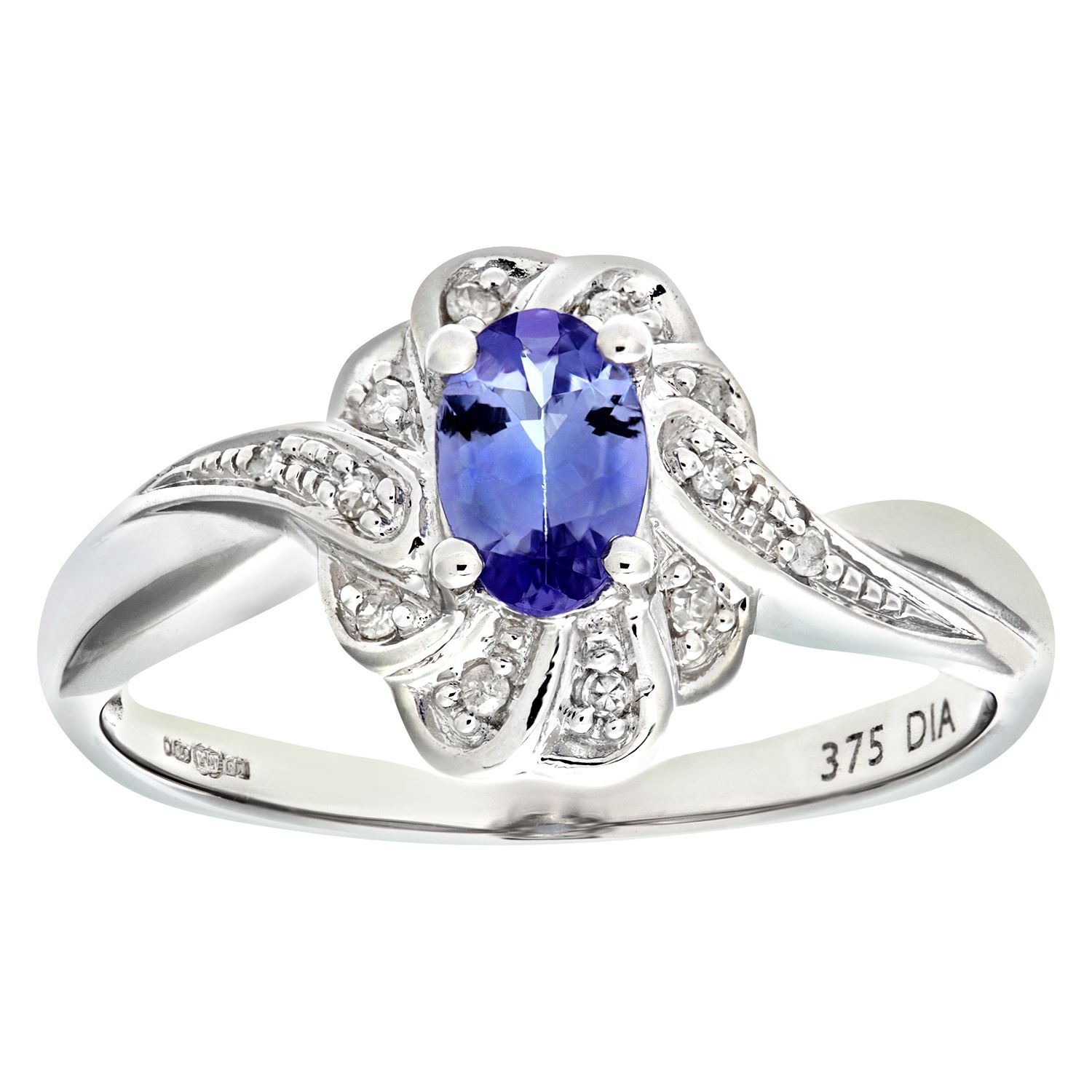 pin jewellery ring cushion tanzanite diamonds anna with real shia