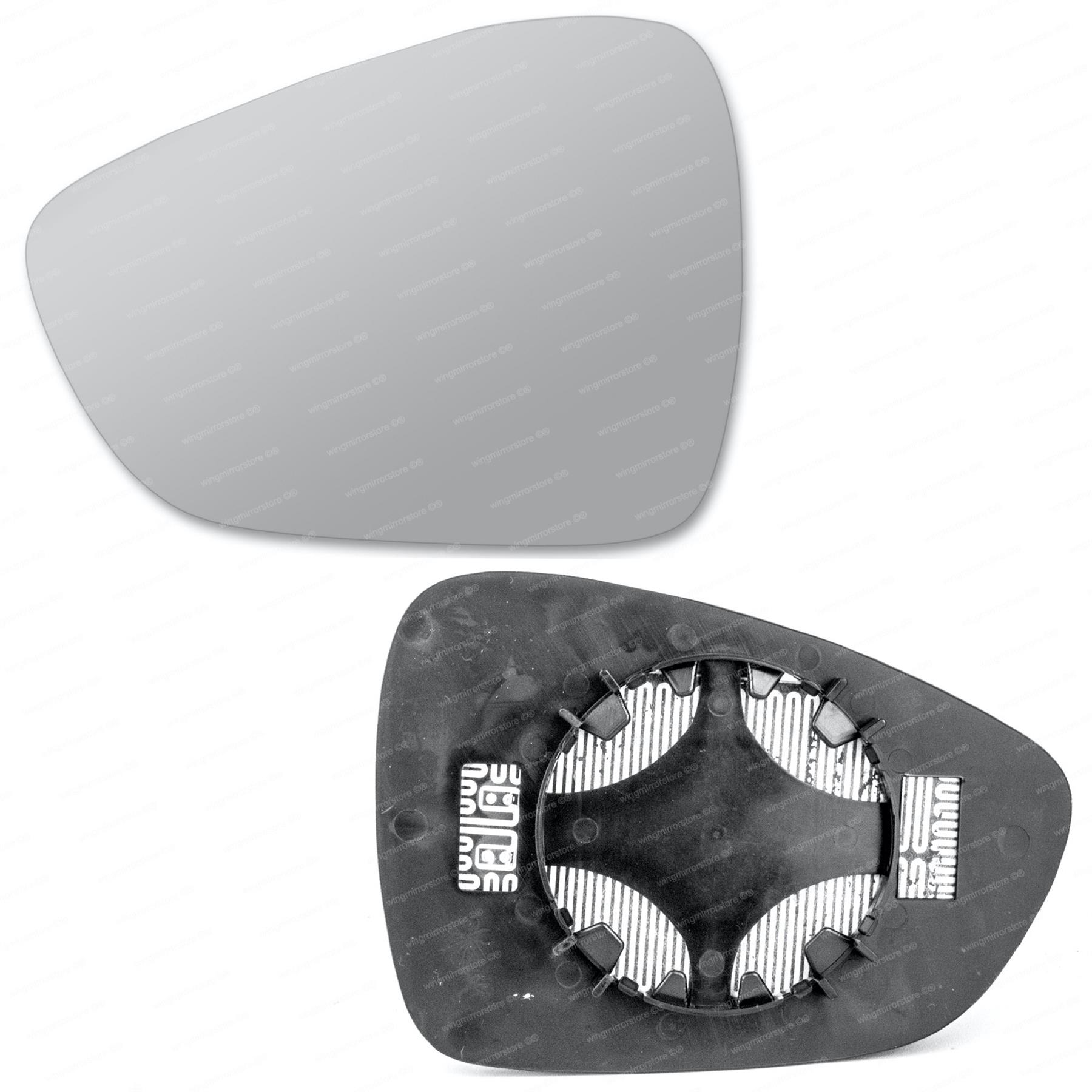For Citroen C3 2009-2016 Driver right hand side wing door mirror convex glass heated with backing plate