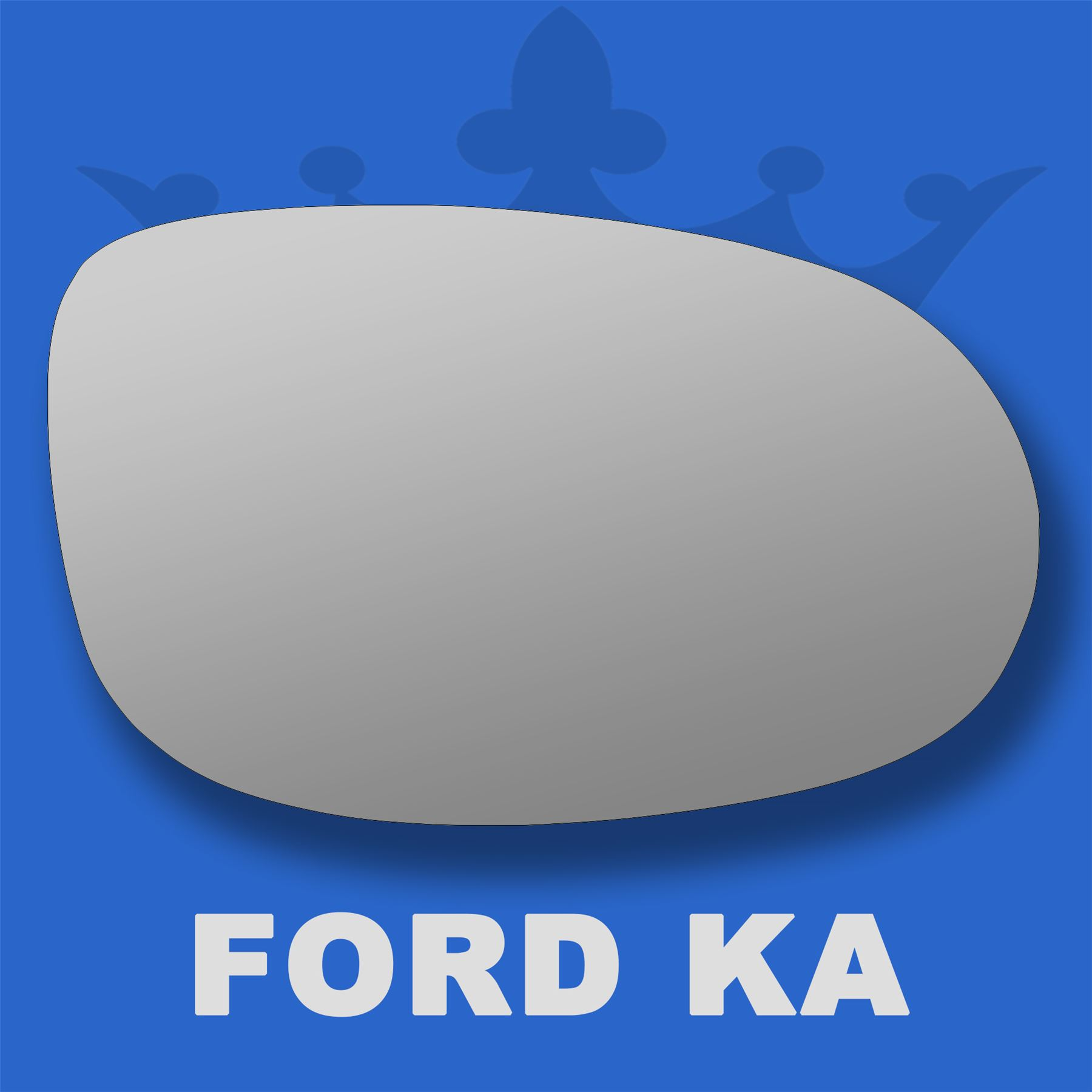 Left side for Ford Ka 2008-2016 wide angle heated wing door mirror glass