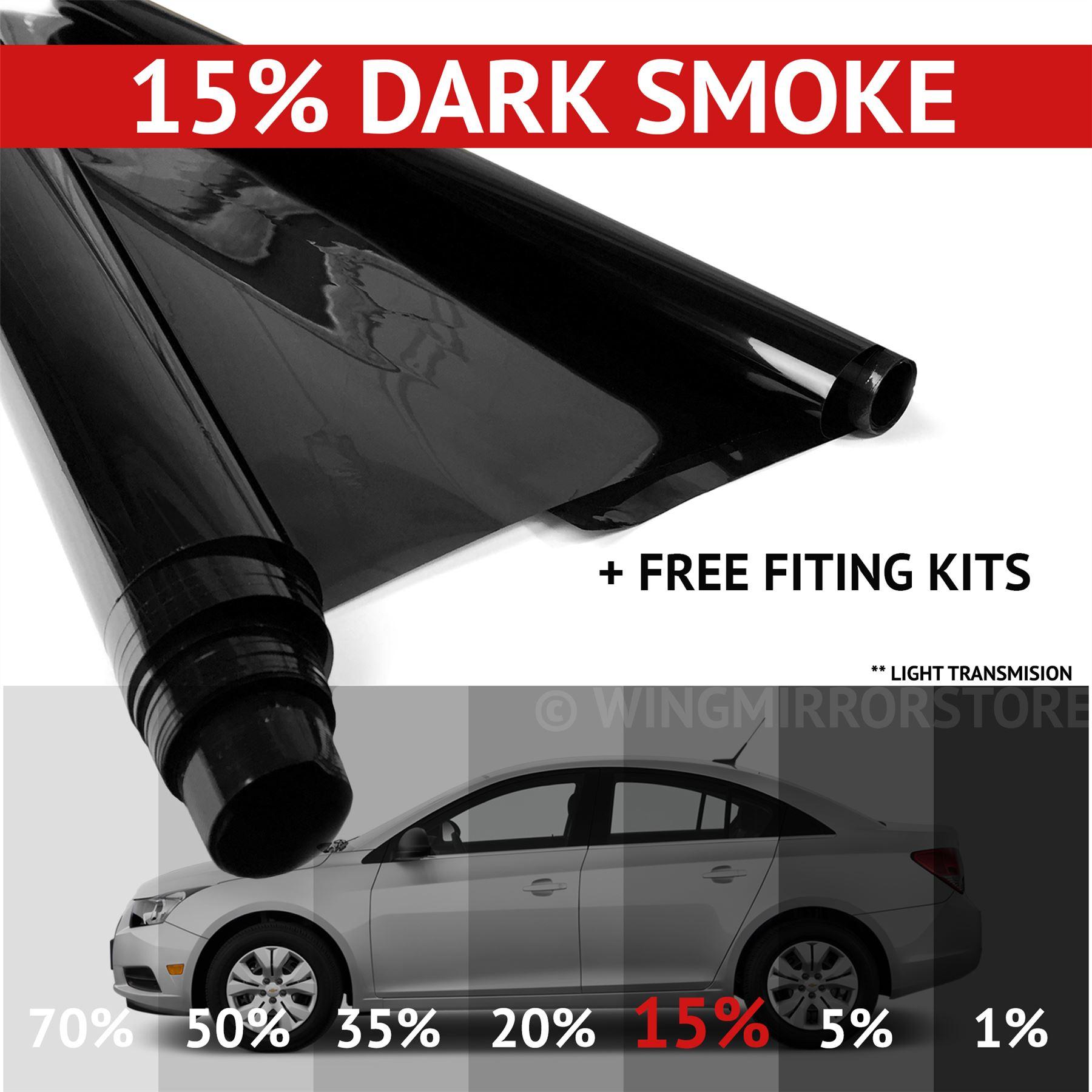 DARK SMOKE  15/% CAR WINDOW TINT 6M x76CM FILM TINTING
