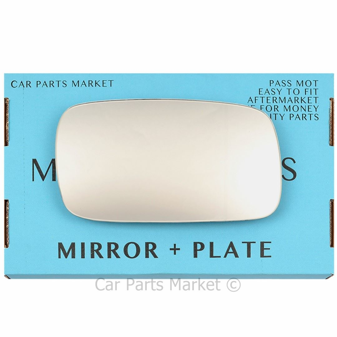 Right DRIVER SIDE Flat Wing Door Mirror Glass for VW Caddy 1995-2004 Plate