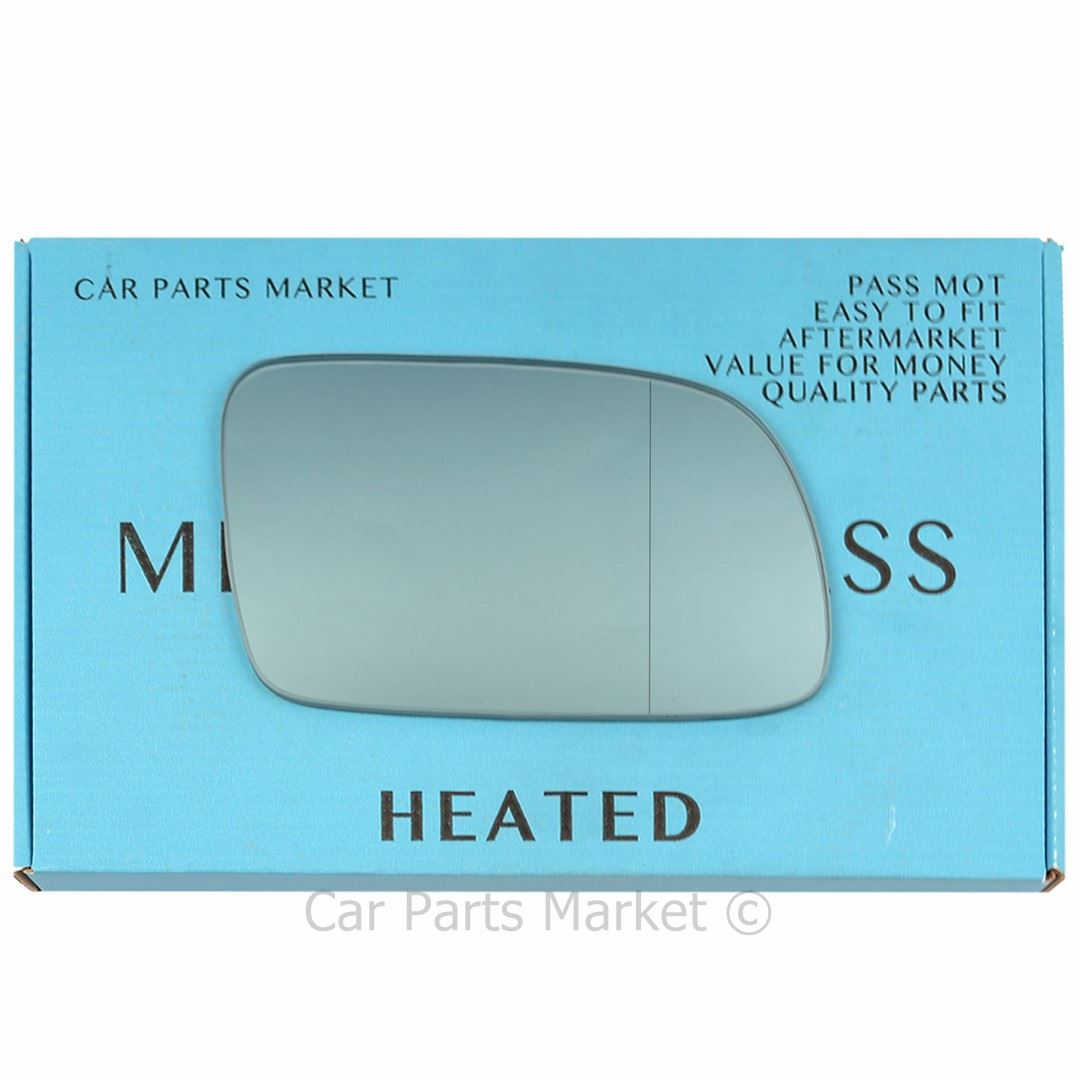 Left blue side Wing door mirror glass for Peugeot 407 04-09 heated