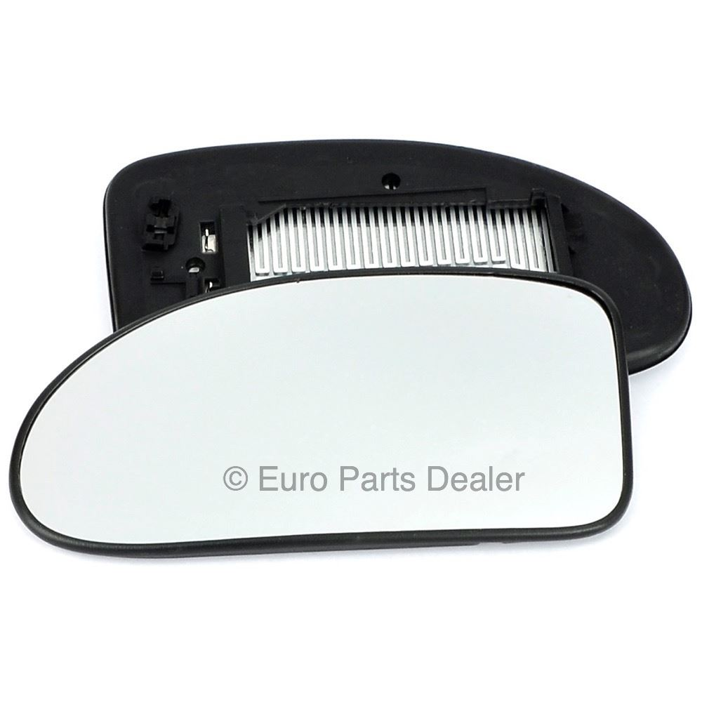 LR-Discovery Nov 2004 to 2008 Heated Passenger Side Silver Wing//Door Mirror Glass Including Base Plate LH