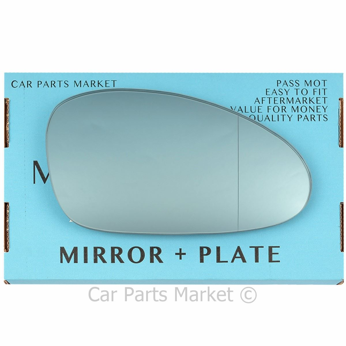 Right Driver Side Wide Angle Heated Wing Door Mirror Glass for PORSCHE 911 98-04
