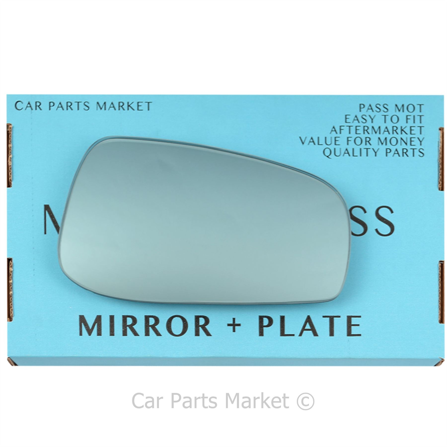 Right Driver side Flat Wing door mirror glass for Peugeot 508 2011-2017 heated