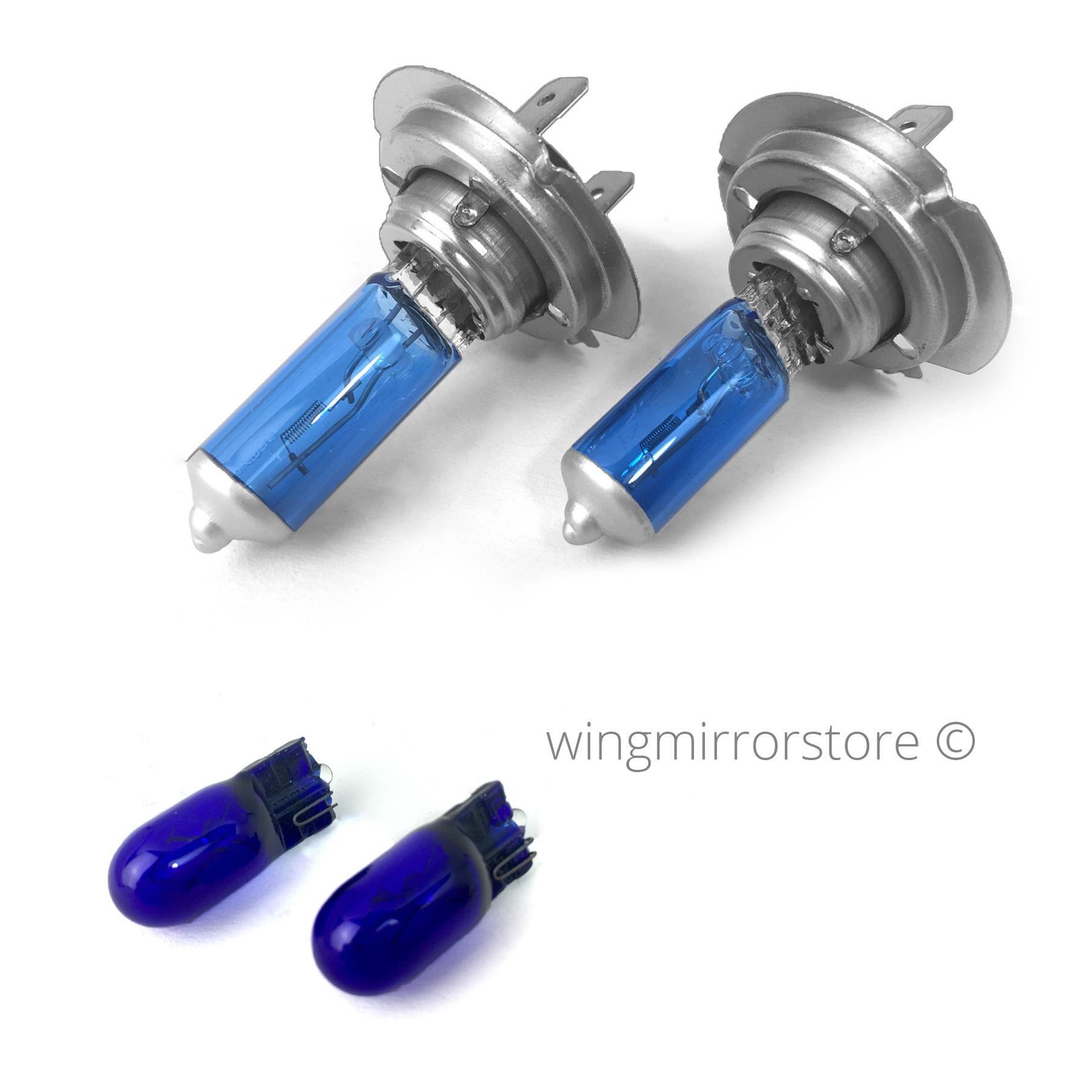 Fiat 500 H1 H7 H3 501 100w Super White Xenon High//Low//Fog//Side Headlight Bulbs