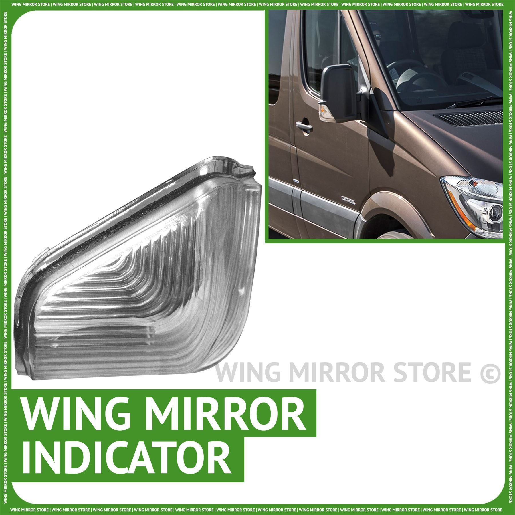 Volkswagen Crafter 2007 To 2016 avec indicateur Wing mirror left hand