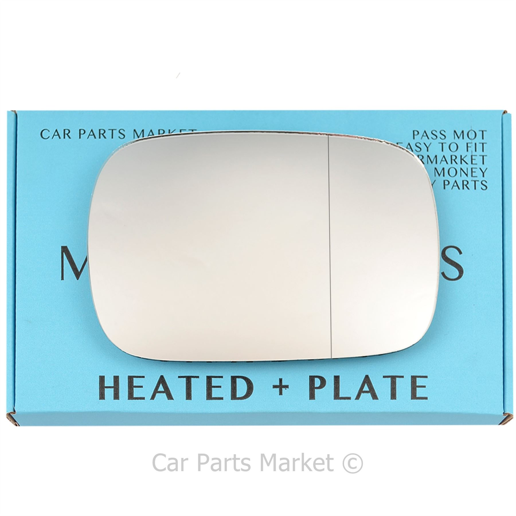 Heated Door Mirror Glass and Backing Plate RIGHT fits 2003-2007 VOLVO XC70