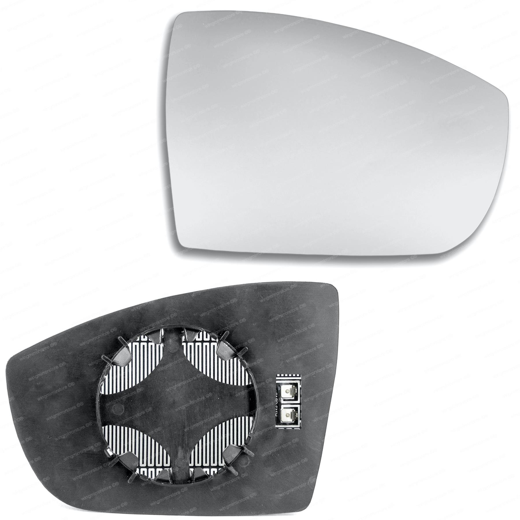 Right Driver side wing mirror glass for Ford S-Max 2006-2015 heated