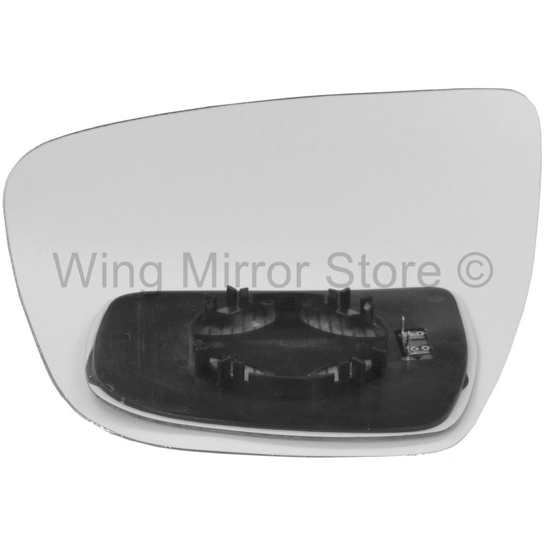 WING MIRROR GLASS CONVEX LEFT SIDE HEATED CLIP BACK ON FITS NISSAN JUKE 2014