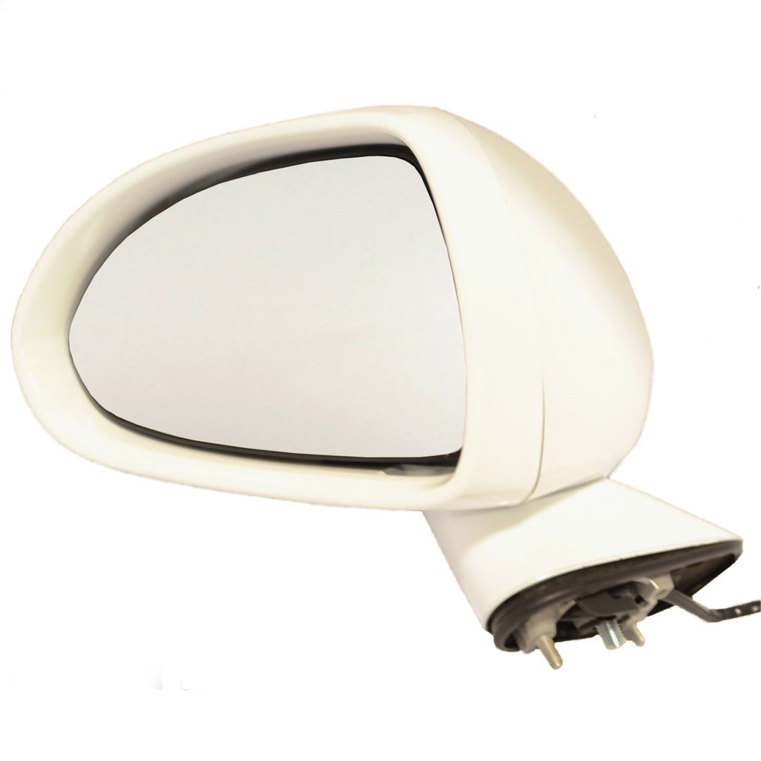 Vauxhall Corsa D MK3 2006-2015 White Door Wing Mirror Cover N//S Passenger Left