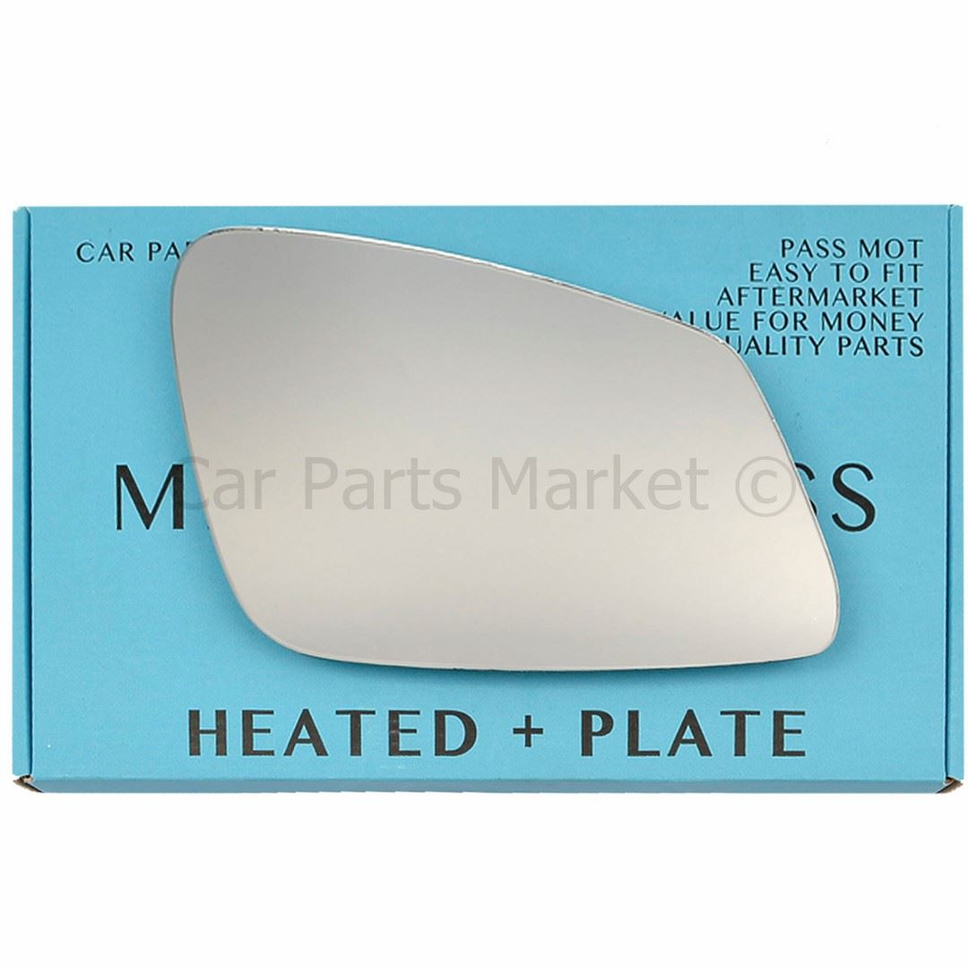 Right Driver side Wide Angle mirror glass for BMW 1 Series hatch 2011-19 Heated