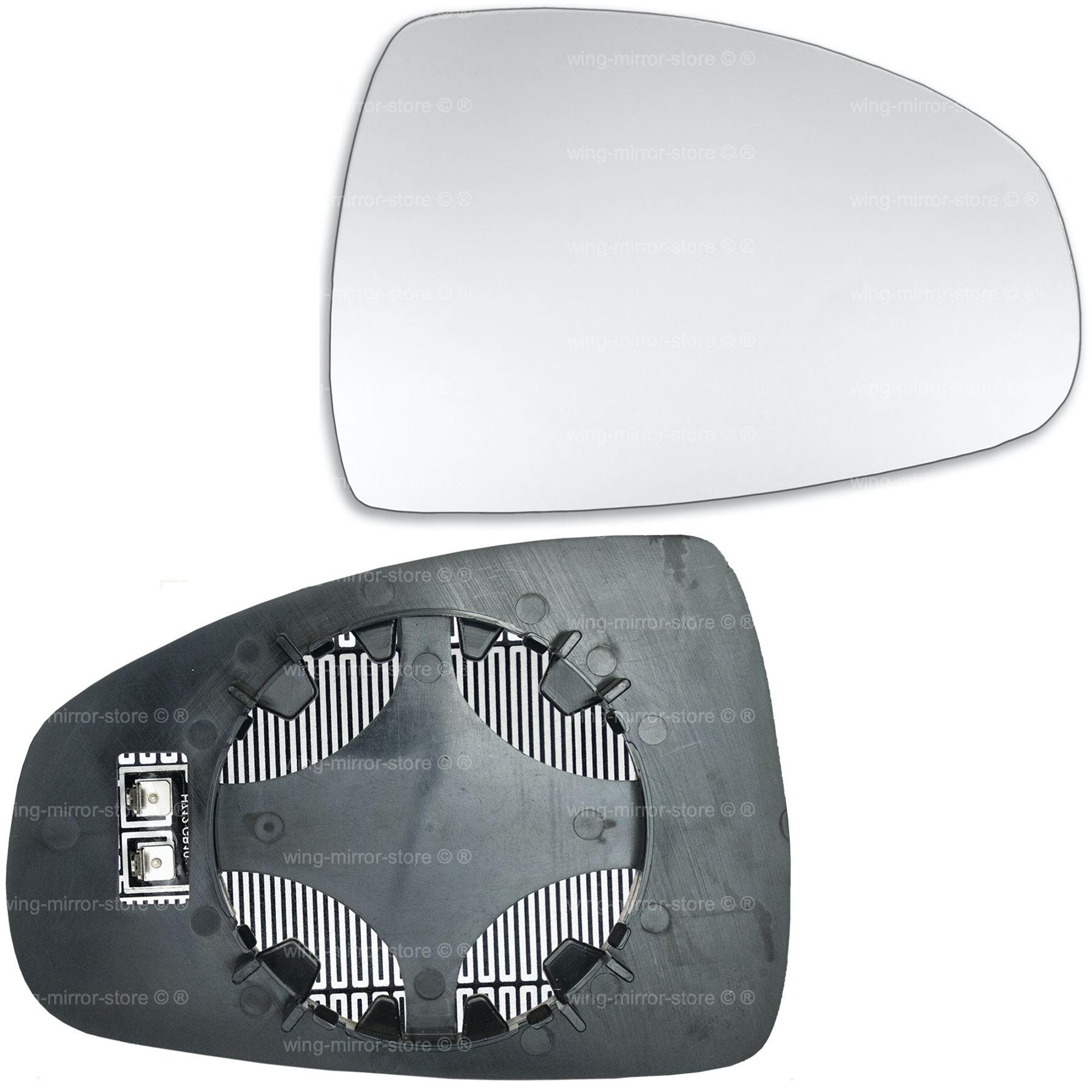 Para Audi A4 2011-2015 Lado Derecho Cristal Espejo Puerta De Ala