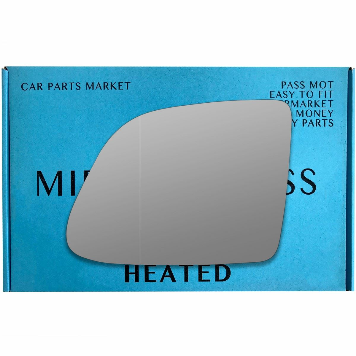 driver side wing door clip on mirror glass for Seat Leon 1999-2003 Heated Right hand