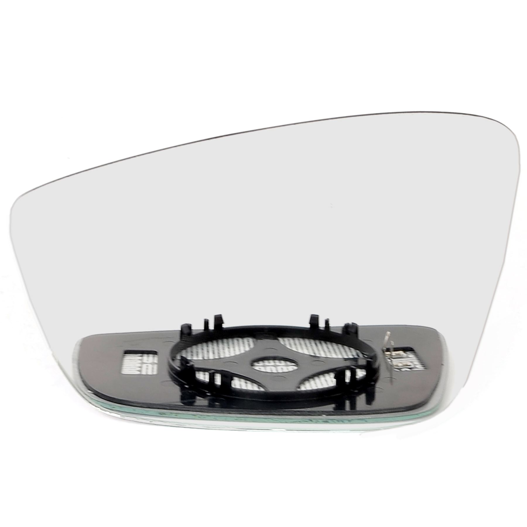 SKODA FABIA VRS 99-07 WING MIRROR GLASS BLUE WIDE ANGLE HEAT+PLATE RIGHT OR LEFT
