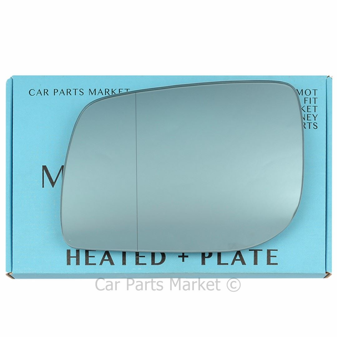 Left Blue Wide Angle Wing mirror glass for  Range rover P38 95-02 heated plate