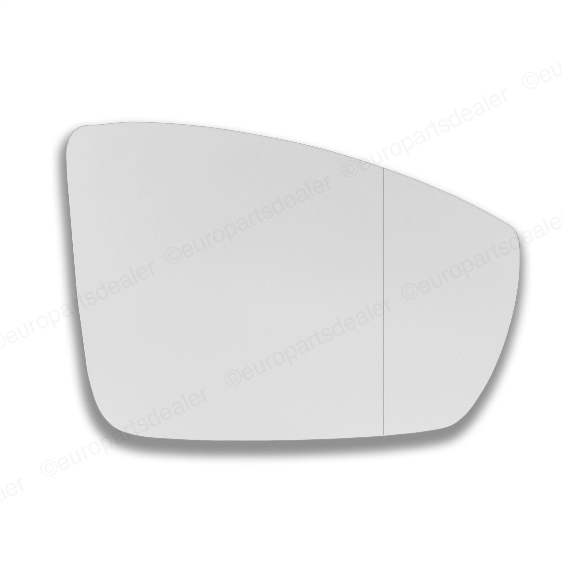 Driver Side WIDE ANGLE WING DOOR MIRROR GLASS For VW Polo 2009-On Stick On New