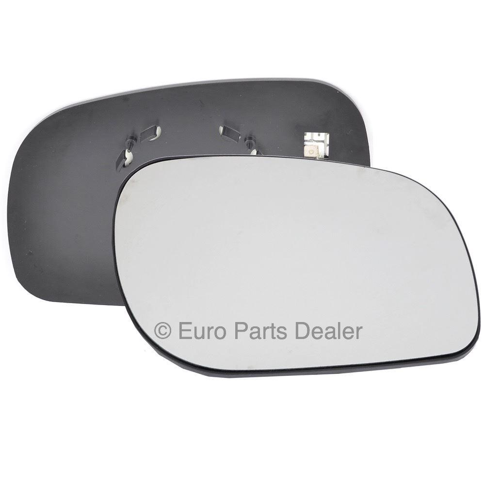 Gauche Côté Passager Bleu Grand Angle Aile Miroir De Verre Pour VW Transporter 2003-09