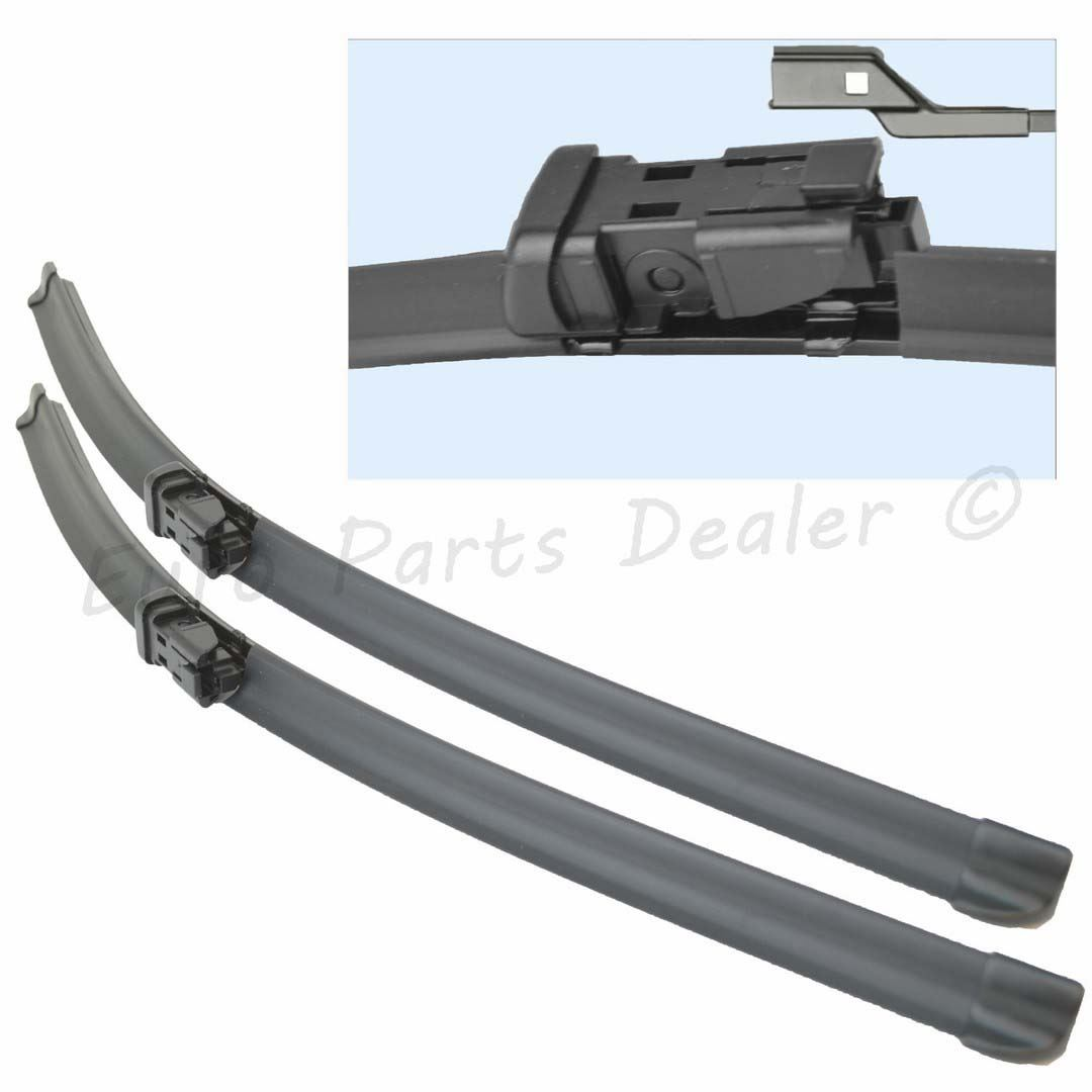 "Peugeot Boxer 2006-2016 Aero Flat Windscreen Wiper Blades 26/"" 21/"" Set"