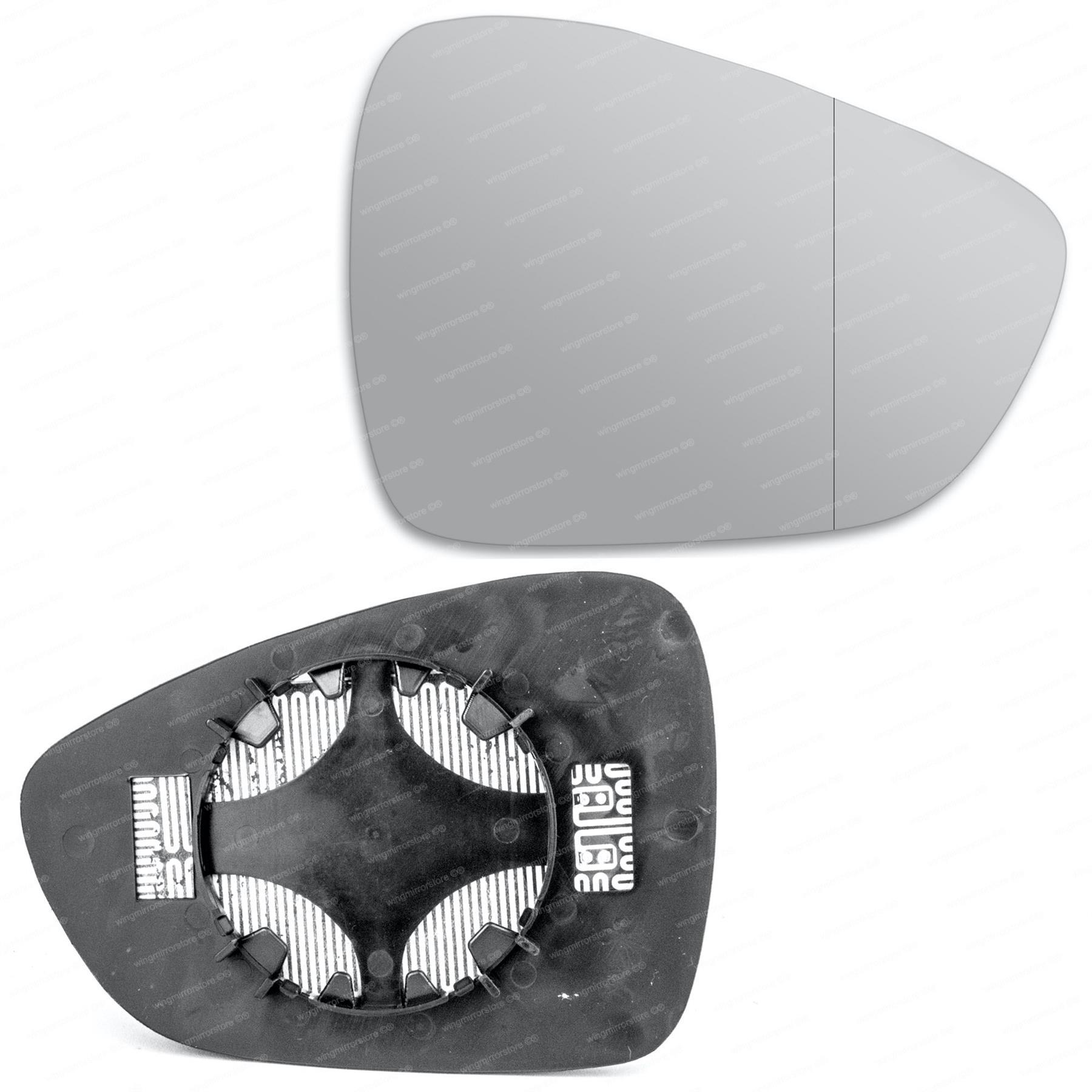 Cristal espejo de ala izquierda del lado del pasajero para Citroen C1 2014-2020 GRAN ANGULAR CLIMATIZADA