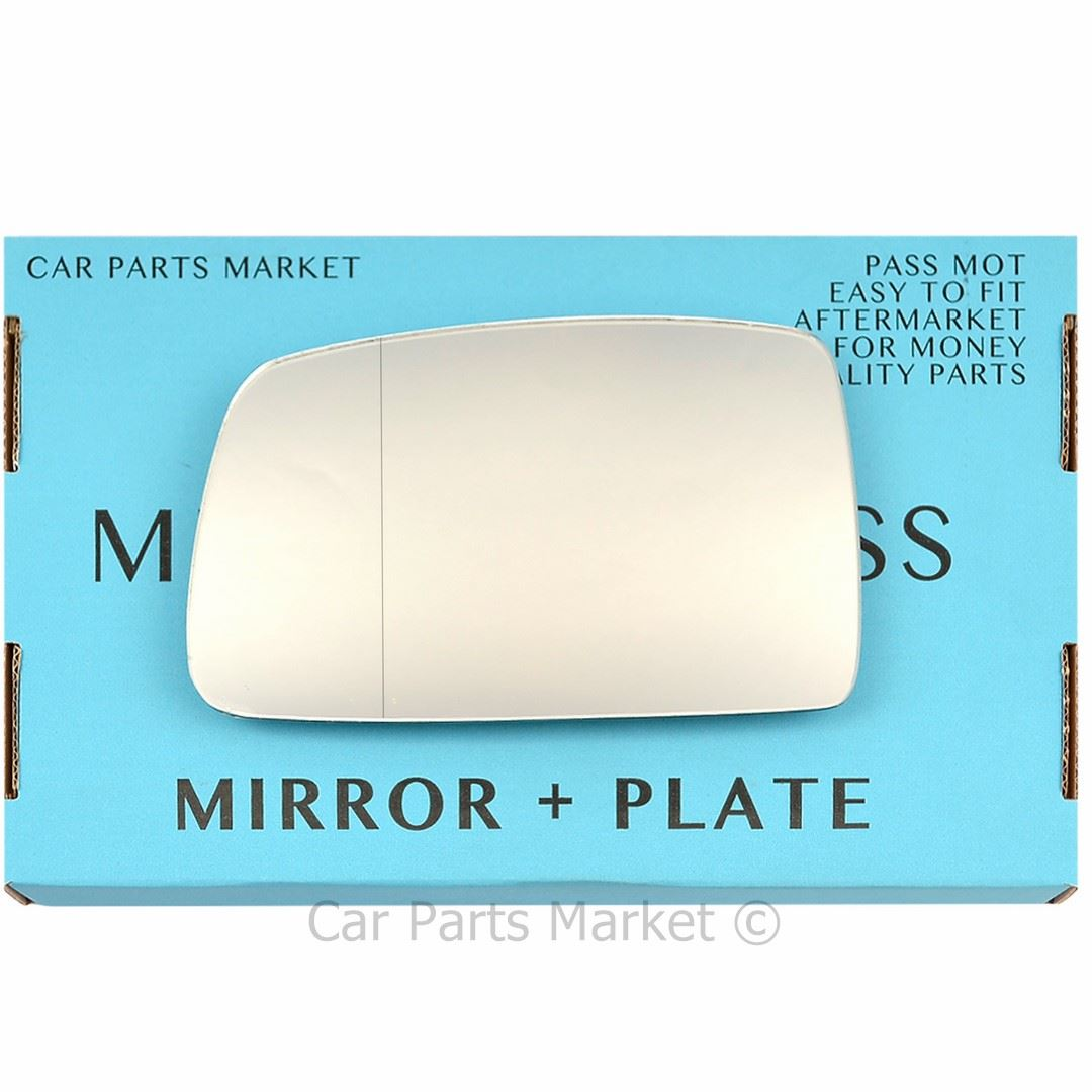 For Hyundai Coupe Tiburon 06-10 Left passenger wing mirror glass with plate