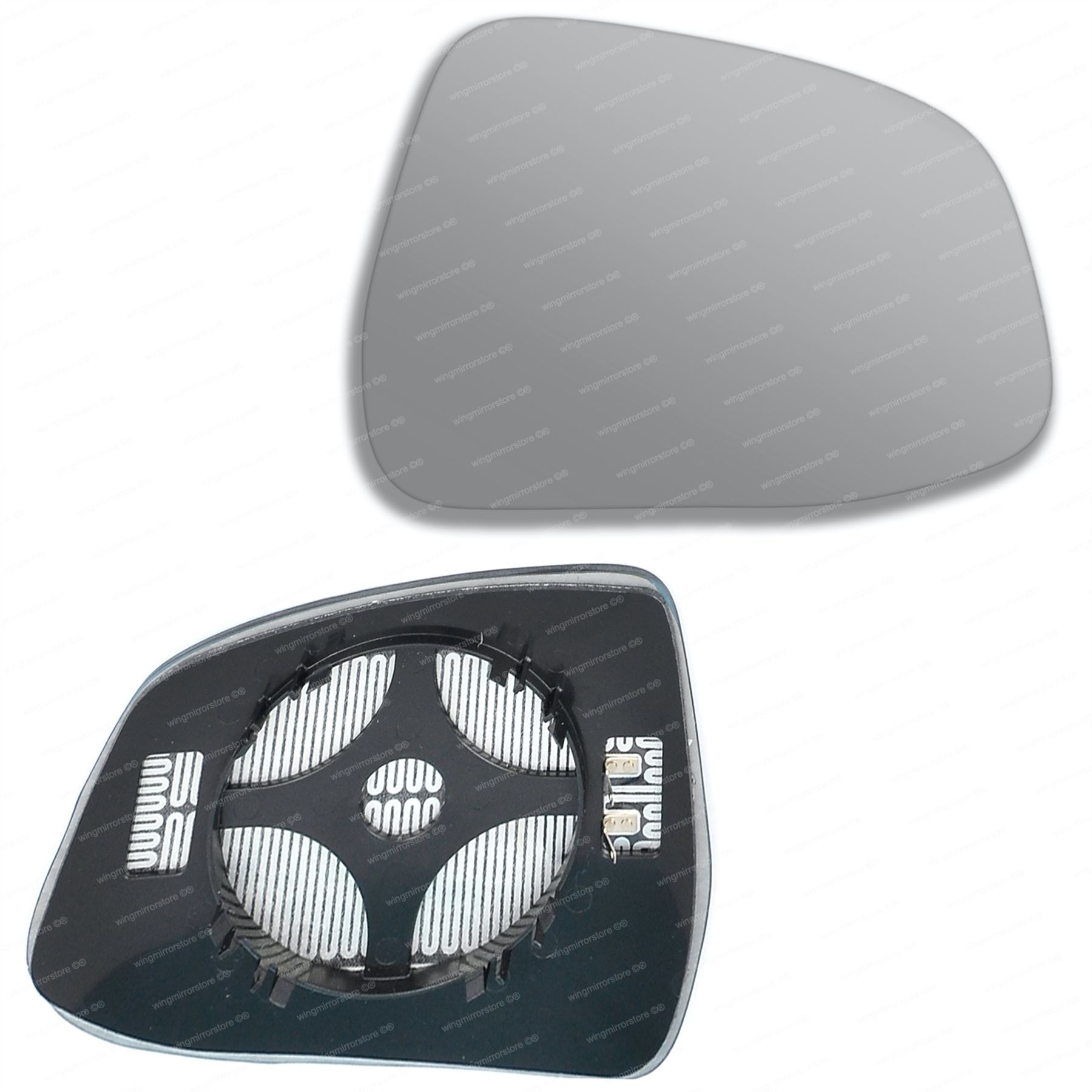 HEATED /& BASE PEUGEOT PARTNER WING MIRROR GLASS SILVER 1996-/>2008 RIGHT SIDE