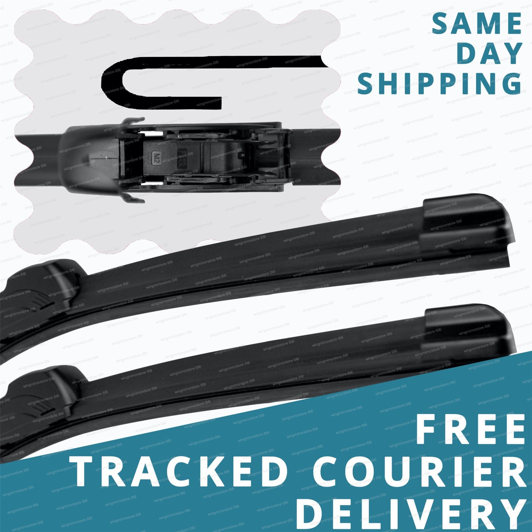Aero VU Front Flat Hooked /& Exact Specific Fit Rear Windscreen Wiper Blades