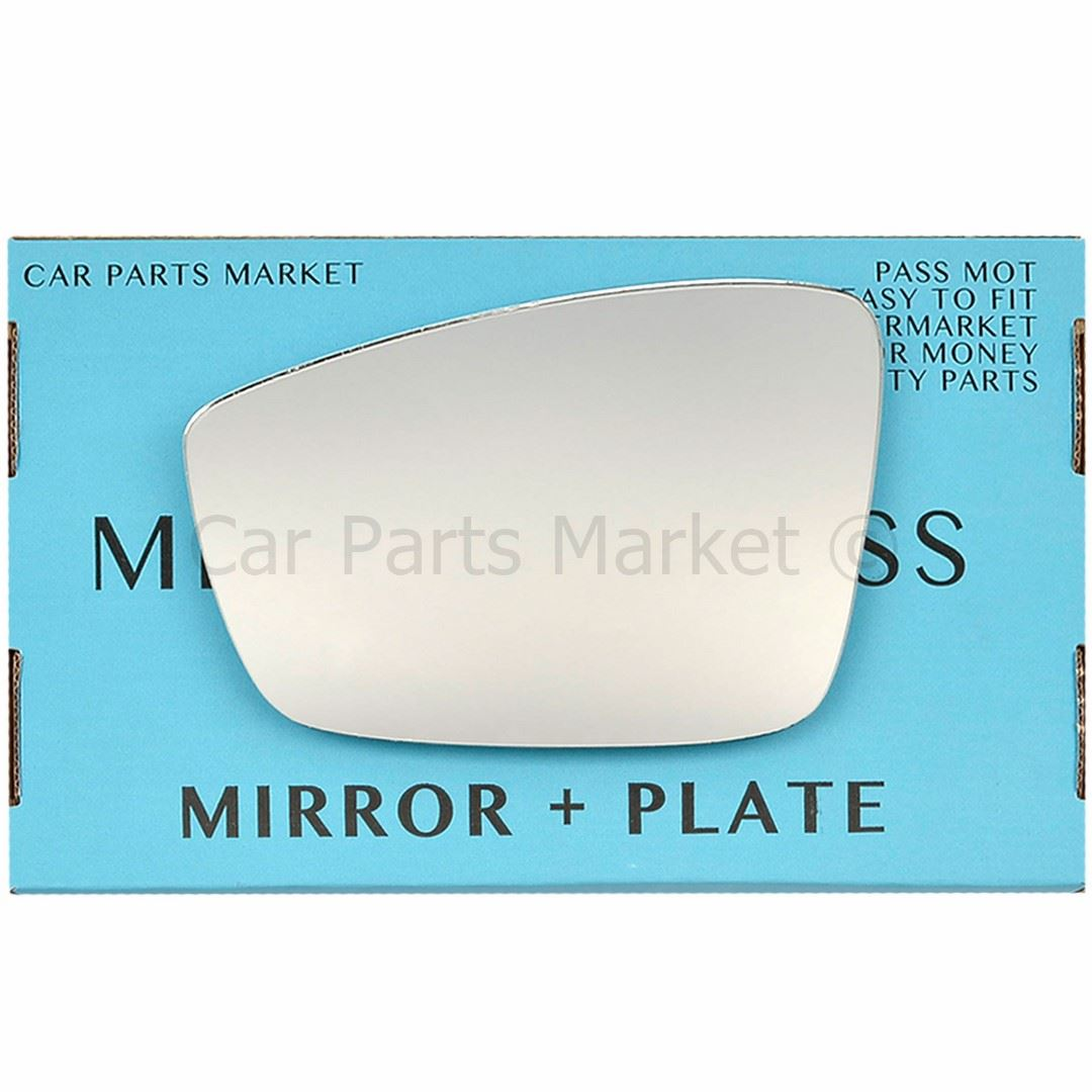 Right hand Driver side for Seat Mii 11-17 wing mirror glass Wide Angle