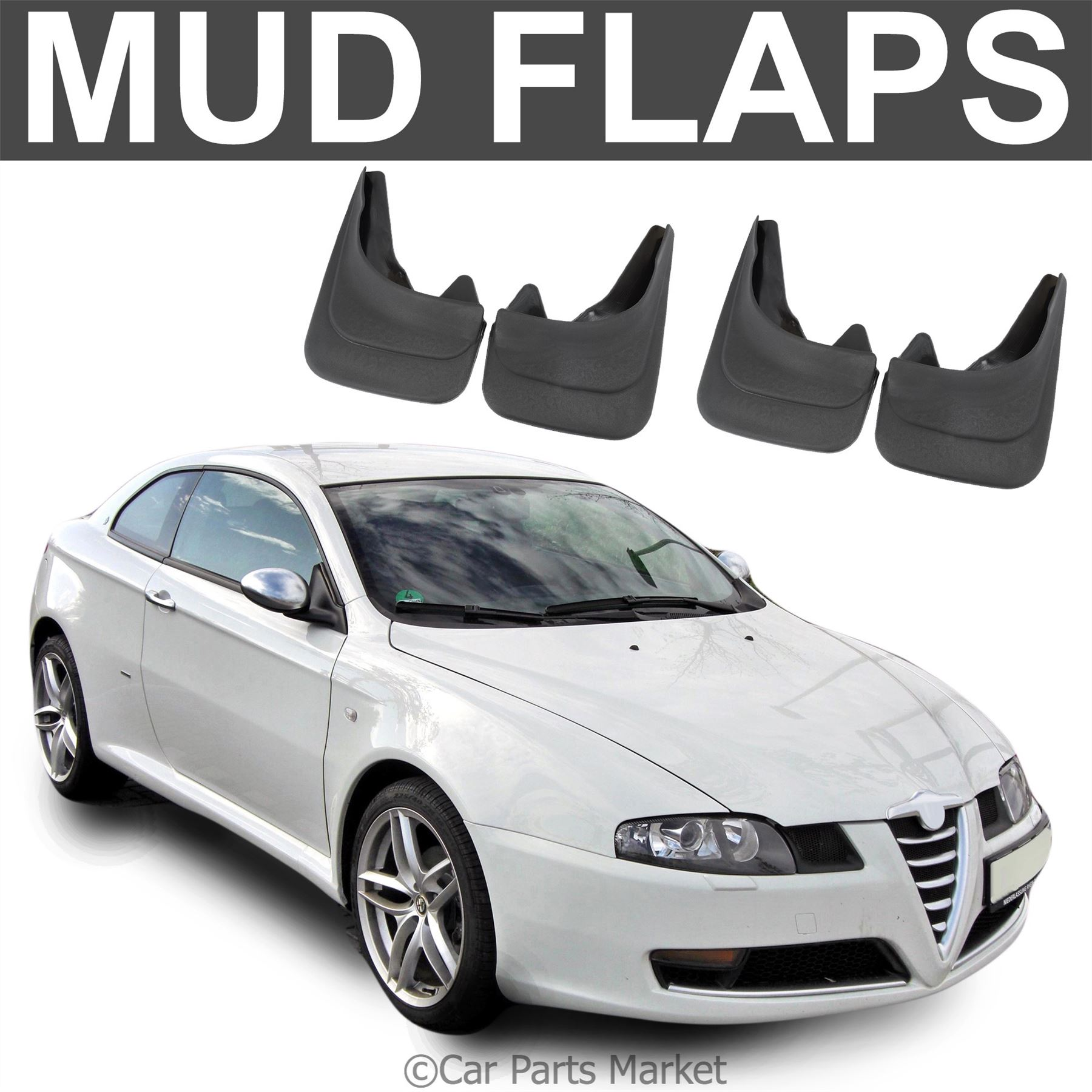 Mud Flaps Splash Guard For Alfa Romeo GT Coupe Brera Set