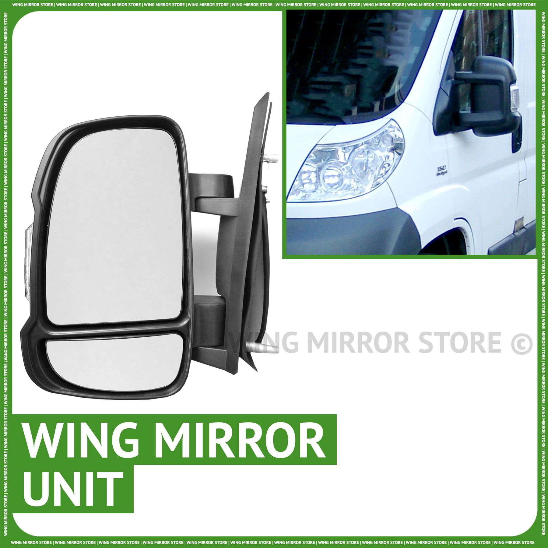 CITROEN RELAY 2006-2014 ELECTRIC BLACK DOOR WING MIRROR DRIVERS SIDE RIGHT O//S