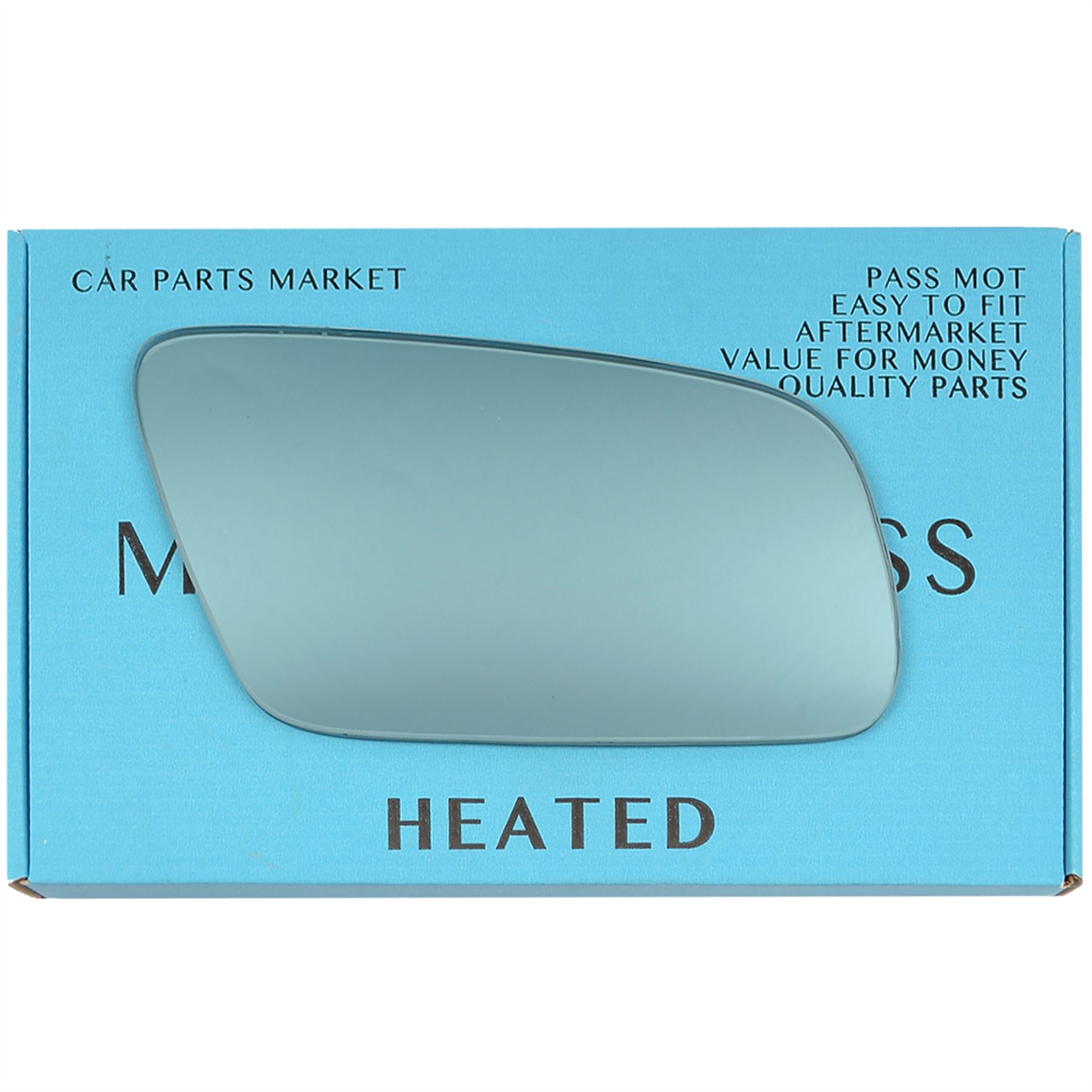 For AUDI A3 8L 00-03 Wide Angle Blue Right Driver Side Wing Door Mirror Glass