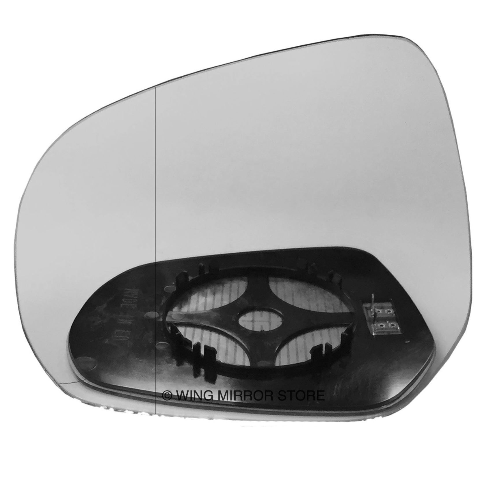 For Suzuki Splash 08-14 Left passenger Flat Electric wing mirror glass w// plate
