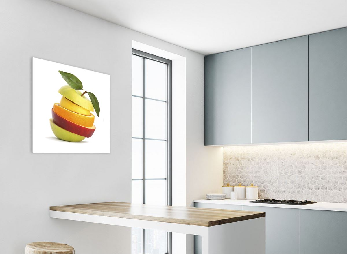 Apple Splash Cuisine MULTI TOILE murale ART Photo Print
