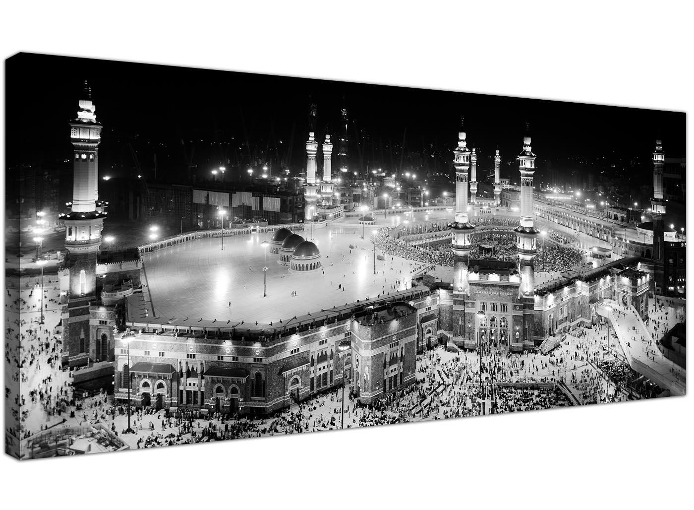 Details about black and white islamic canvas art prints muslim hajj kaaba pilgrimage mecca