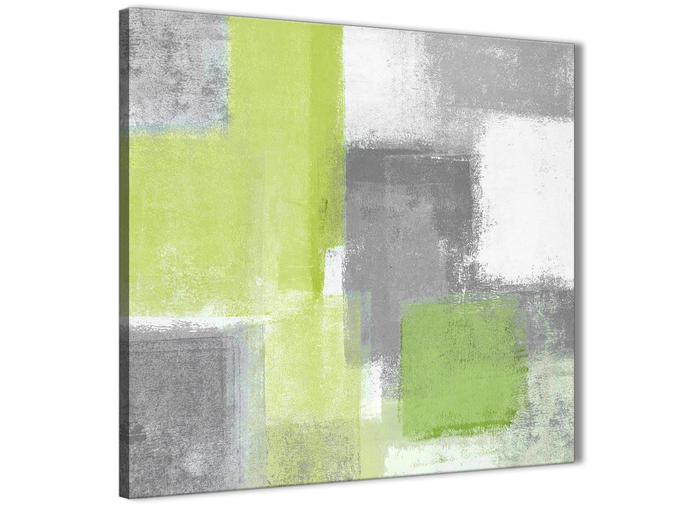 Details about lime green grey bathroom canvas wall art accessories abstract 1s369s 49cm