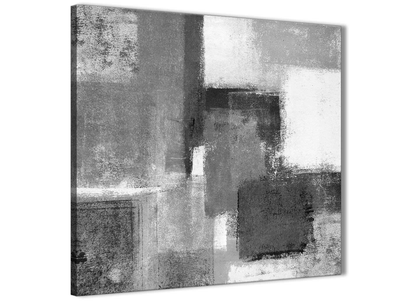 Black White Grey Abstract Hallway Canvas Wall Art Accessories