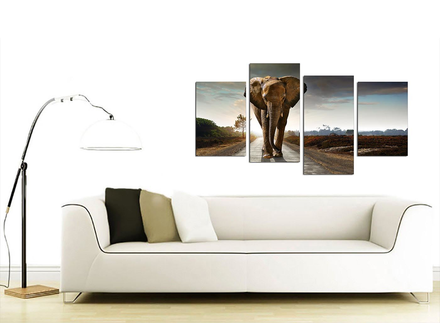 Elephant Canvas Art Prints – African Wildlife Canvases for Living Room