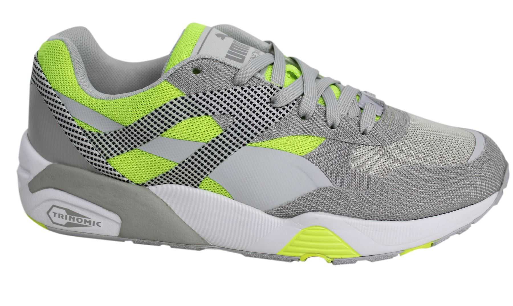 68dade81242 Puma R698 Progressive Lace Up Grey Mens Fitness Gym Trainers 362046 ...