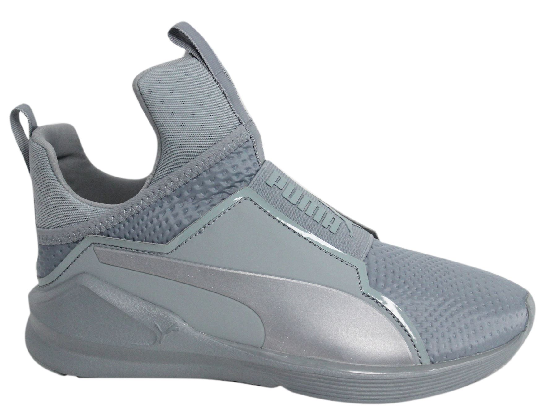 bf44d5887b3 Puma Fierce Quilted Slip On Grey Textile Womens Trainers 189418 02 ...
