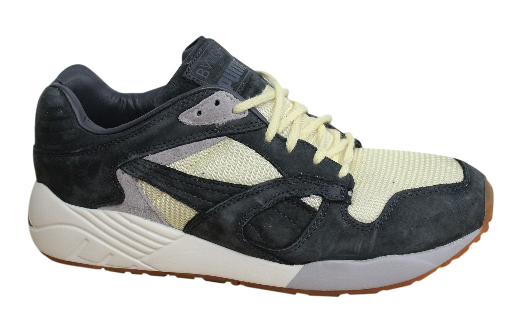 958eeb7ae0 Puma XS-850 x BWGH Lace Up Dark Shadow Leather Mens Trainers 357032 01 D1