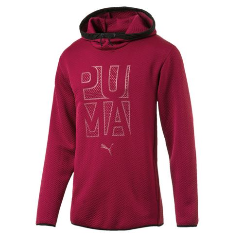 Details about Puma Active Training WinTech warmCELL Mens Red Fleeced Hoody 515666 03 A96B