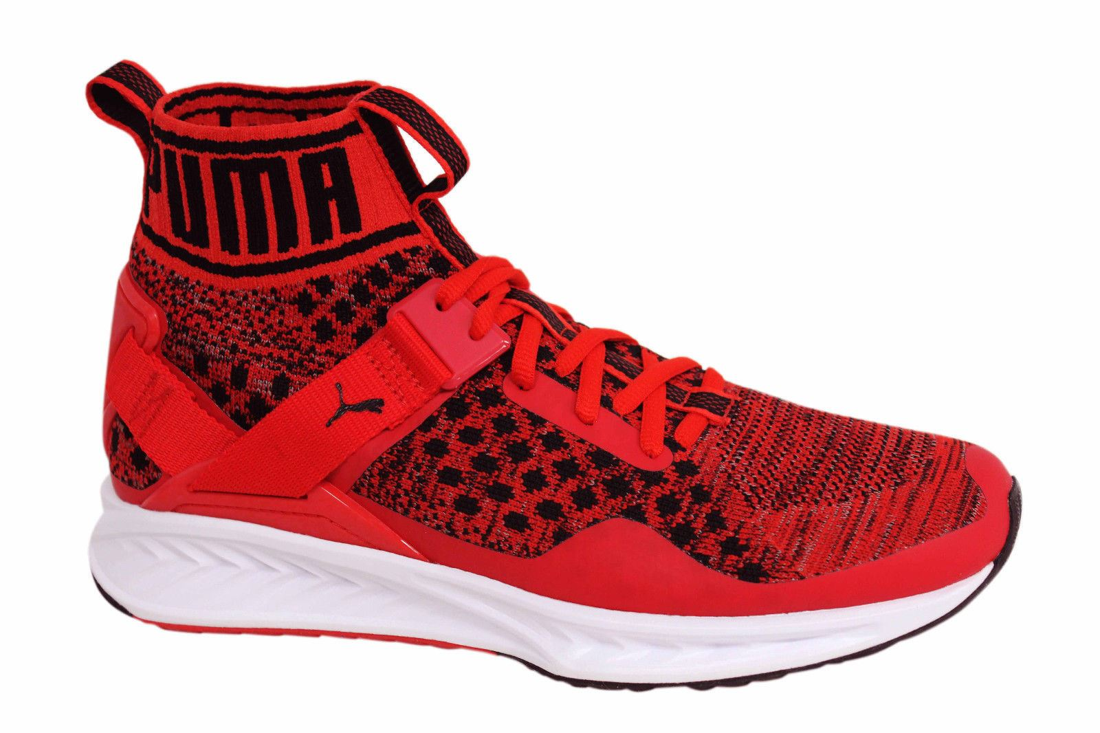 best service 92180 e15e2 Details about Puma Ignite evoKNIT Lace Up Red Mens Mid Shoes Trainers  189697 02 U94