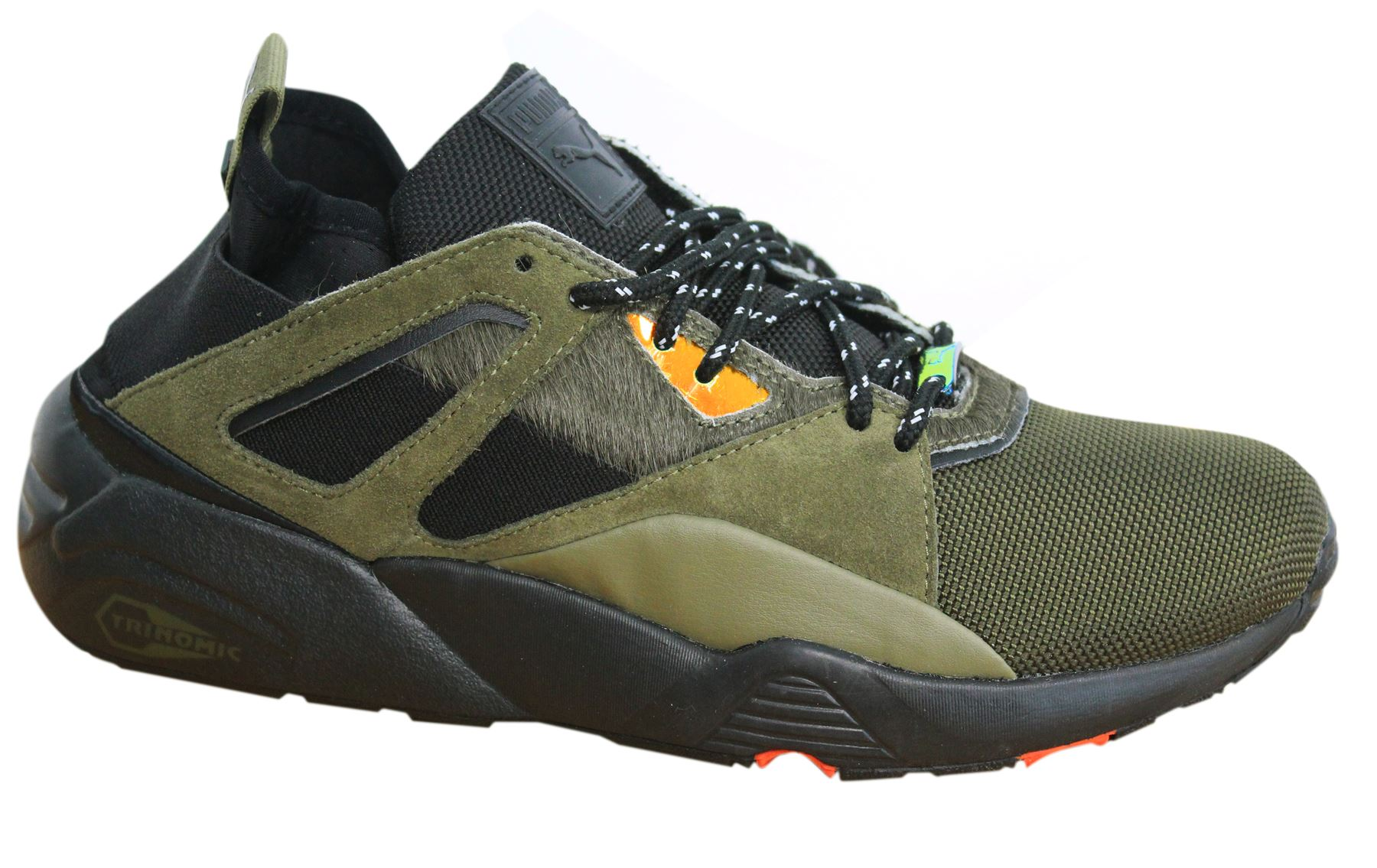 179ab2fc74a5 Puma Blaze of Glory Sock Camping Lace Up Olive Green Mens Trainers 361904  01 M16