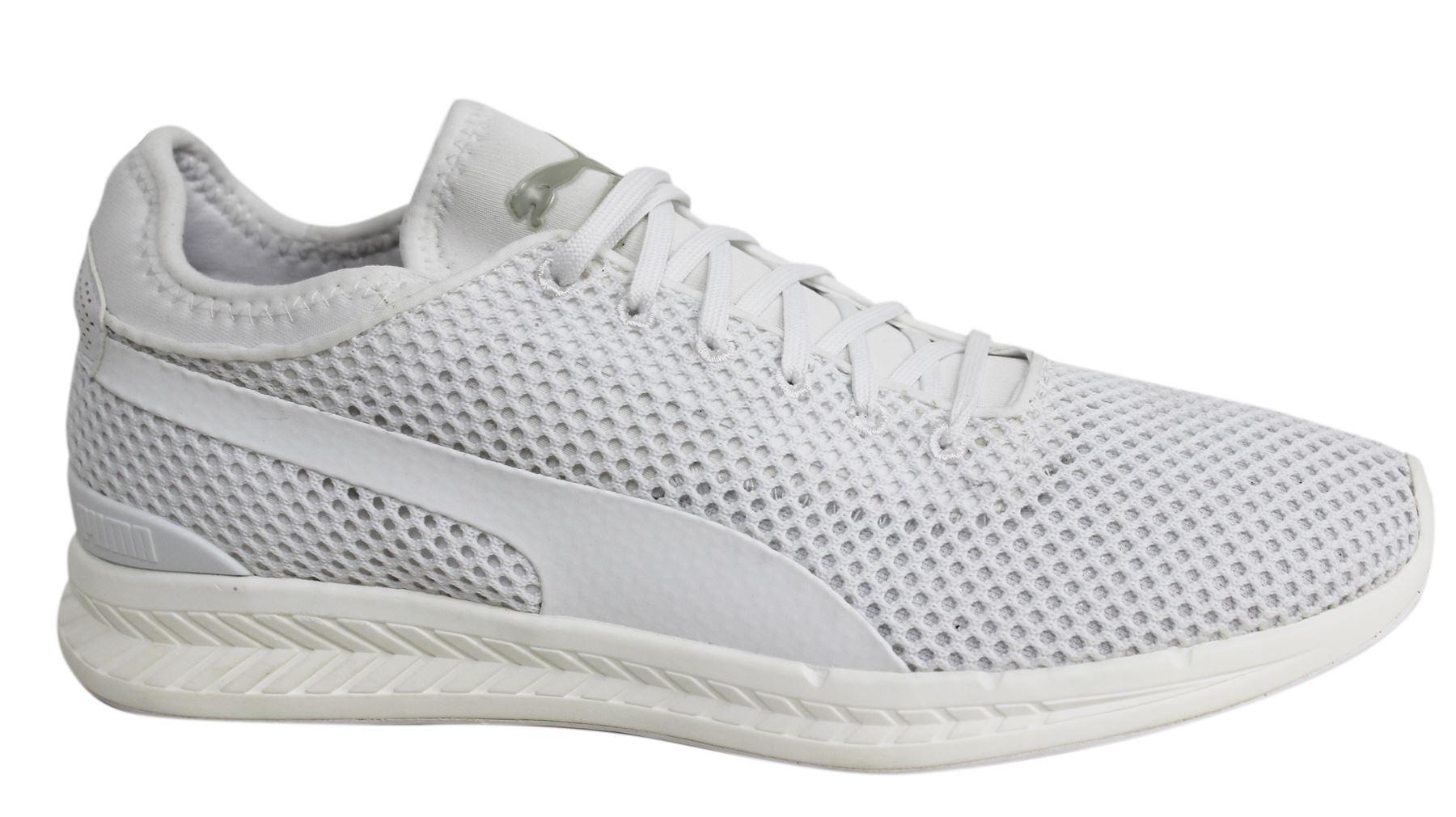 Puma Ignite calze maglia con lacci bianco tessuto Scarpe sportive uomo 361060 04